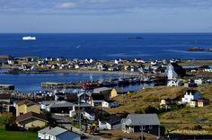 Bonavista, Newfoundland, Canada (Iceberg in the background) Newfoundland Canada, Newfoundland And Labrador, Beautiful Islands, Beautiful Places, Canada Travel, North America, Exploring, Coastal, Scenery