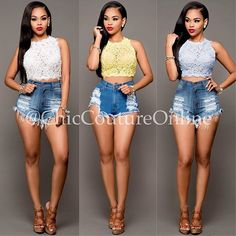"""It's """"Daisy Dukes"""" season www.ChicCoutureOnline.com Search: """"Asalia"""" tops ~ """"Kerby"""" """"Carson"""" shorts  #fashion #style #stylish #love #ootd #me #cute #photooftheday #nails #hair #beauty #beautiful #instagood #instafashion #pretty #girly #pink #girl #girls #eyes #model #dress #skirt #shoes #heels #styles #outfit #purse #jewelry #shopping"""