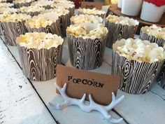 A Magical Woodland Campfire Party Fox Party, Baby Party, 12th Birthday, Birthday Parties, Birthday Popcorn, Popcorn Cups, Woodland Baby, 1 Year, Bunny