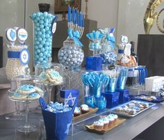 Hanukkah sweet table ideas.