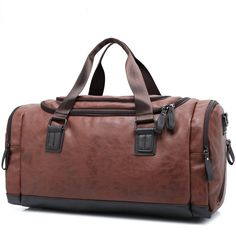 c06f28ae82 Leather Travel Bag Men Vintage Men s Duffel Bag Large Capacity Gym Bag  Duffle Bag Travel