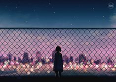Original art poster featuring my own illustration. Anime Scenery Wallpaper, Anime Artwork, City Aesthetic, Aesthetic Anime, Epic Backgrounds, 2048x1152 Wallpapers, Watercolor Scenery, Watercolour, Anime City