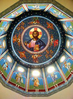 The Pantocrator of Holy Trinity Greek Orthodox Church in New Orleans, LA. Orthodox Christianity, Orthodox Icons, World Championship, Christian Faith, Goa, Eagles, New Orleans, Egypt, Greek