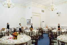 Wedding breakfasts in the Wolfson Room #Londonwedding #wedding #london #weddingbreakfast #finedining #flowers