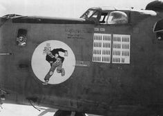 """B-24 Liberator """"Bathless"""" of the 392nd Bombardment Squadron, 30th Bombardment Group. (U.S. Air Force Photo)"""