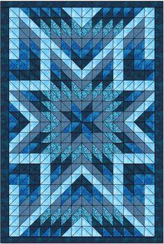 Star Quilt Blocks, Star Quilt Patterns, Strip Quilts, Blue Quilts, Sewing Patterns, Lone Star Quilt, Patchwork Patterns, Patchwork Designs, Quilting Tutorials