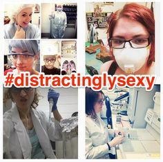 """Nobel Prize-winning scientist Tim Hunt recently resigned from his honorary post at University College London because of backlash from comments he made about his """"trouble with girls"""" working in labs. And now, female scientists are using social media to make their own point about what the 2001 Nobel Prize winner said.  Women scientists have co-opted the hashtag #distractinglysexy on Instagram and Twitter, where they're posting self-portraits in their lab whites. Here are some of the best."""