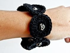 Black Bracelet with Rose Beads by Golden Heart Crafts Golden Heart, Heart Crafts, Black Bracelets, Beads, Rose, Accessories, Fashion, Beading, Moda