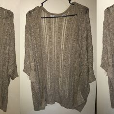 Beige Cardigan Super cute for fall! Long and comfy! No holes/stains/nothing wrong with it! Sweaters Cardigans