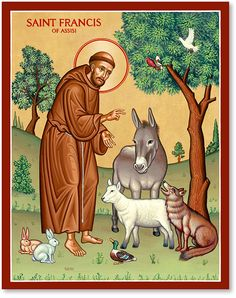 Francis of Assisi. His life story, Special patronages, St. Francis of Assisi Prayers and Pictures of St. Francis of Assisi. Feast Of St Francis, St Francis Assisi, Pope Francis, Catholic Saints, Patron Saints, Catholic News, Monastery Icons, Patron Saint Of Animals, St Clare's