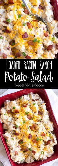 Loaded Bacon Ranch Potato Salad is a flavorful side dish that's perfect for potlucks or your next game day party!