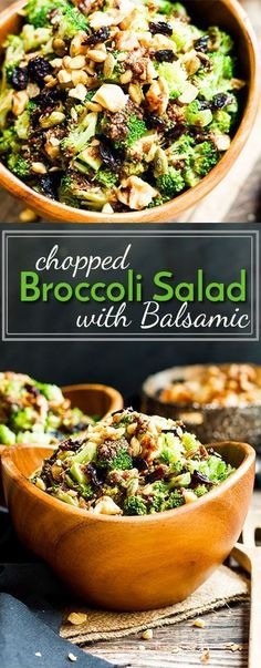 An anti-oxidant infused, gluten-free chopped broccoli salad full of toasted…