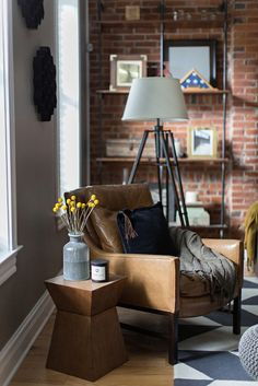 Scandinavian Living Room from Wayfair Canada If you love home decor, then you'll appreciate the industrial style of this gorgeous apartment.