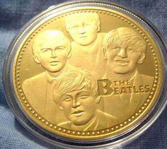 BEATLES Gold Coin Muisc Pop Rock
