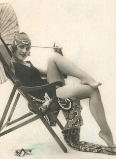 20's flapper with parasol