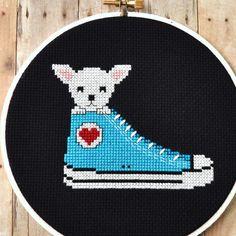 Chihuahua in a Shoe Counted Cross Stitch Pattern PDF $4.00