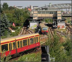 . Viergleisig - S-Bahnhof Bornholmer Straße im Berliner Norden. 20.08.2010 (Matthias)