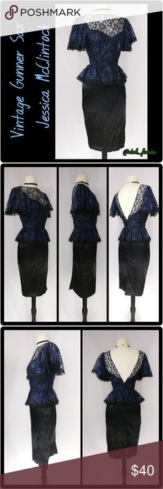 Vintage Gunne Sax Jessica McClintock dress Beautiful blue and black lace top peplum style Vintage Gunne Sax Jessica McClintock dress. Size 3. Message for more details,offers or personalized bundles. Thank you for looking #gunnesax #vintage #jessicamcclintock #lace #blue #black #peplum #size3 #beautiful Vintage Dresses