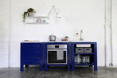 Very Simple Kitchen [Dark Blue] on Behance