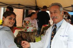 Dr. Dean Cerf at Ridgewood Veterinary Hospital's Adopt-A-Pet Day.