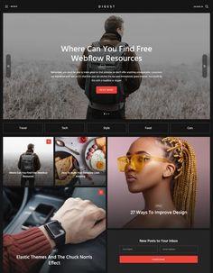 10 Best Webflow Dark Templates - Masterpicks - Design Inspiration Blog Websites, Modern Website, Grid Layouts, Creative Portfolio, Create Website, Minimal Design, Color Shades, Website Template, Tool Design