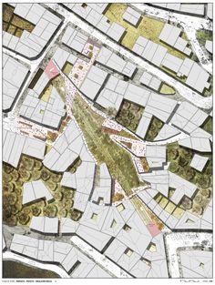 Proyecto de Título_ Rehabilitación del Ascensor Florida y su entorno como espacio público, Valparaíso - Planta general de techos.