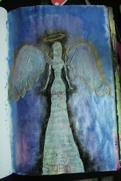 angel with paper wings