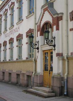 Vanha Teollisuuskoulun rakennus Luostarinkadulla
