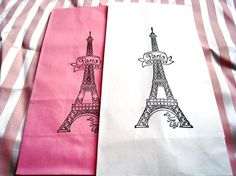 Paris France Eiffel Tower Gift Bags and Party Favors by Parlene, $7.50