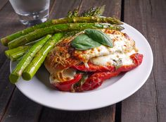Barbells and Bellinis: Roasted Red Pepper, Mozzarella and Basil Stuffed Chicken
