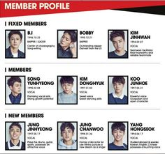 Mix & Match (iKON) members profile, 6 members from Team B and 3 new trainees