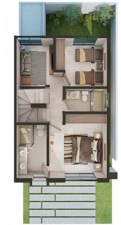 New apartment architecture interior layout Ideas – apartment Modern Floor Plans, Home Design Floor Plans, Modern House Plans, Small House Plans, House Floor Plans, Apartment Layout, Apartment Design, Apartment Kitchen, Apartment Interior