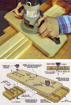 Router Fluting Jig - Woodworking Tips and Techniques | WoodArchivist.com #WoodworkingBench #WoodworkingTips
