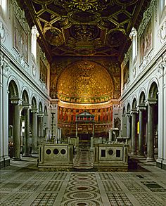 Nave, Church of San Clemente, Rome. Consecrated 1128.