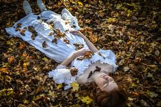 'Sleeping Doll 2' self-portrait by Sophia Perkins. Inspired by the Pre-Raphaelite movement and Christer Karlstad.