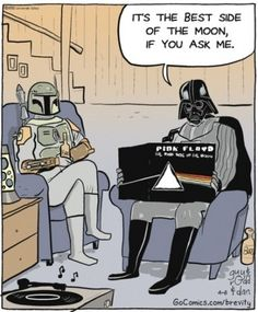 "Listening to some ""Floyd"""