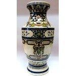 """Ivory and Blue Porcelain Vase 16"""""""