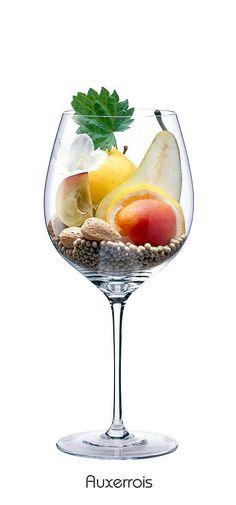AUXEROIS  Apple, white flowers, peach, apricot, lemon, pear, almond, white pepper, nettle