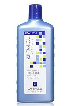 Andalou Naturals Argan Stem Cell Age Defying Shampoo #ArganOilForHairLoss Argan Oil For Hair Loss, Best Hair Loss Shampoo, Biotin For Hair Loss, Shampoo For Thinning Hair, Biotin Hair, Hair Shampoo, Baby Hair Loss, Hair Loss Cure, Postpartum Hair Loss