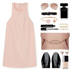 """""""Nude & Black"""" by nmkratz ❤ liked on Polyvore featuring Rebecca Minkoff, FitFlop, Givenchy, H&M, Michael Kors, Chanel, Narciso Rodriguez, Marc Jacobs, Cara and Isabel Marant"""
