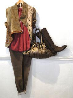 ANVRDIE jacket £189.00 sandwich top £59.00 Tutti&Co chain £28.35 Tutti&Co pendant £10.00 Luppo bag £250.00 Bruno premi boots £89.95