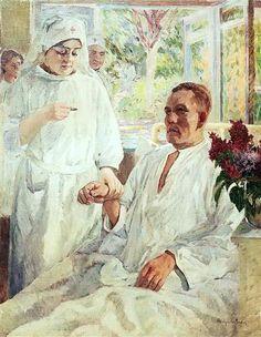 At the Hospital - Nikolay Bogdanov-Belsky