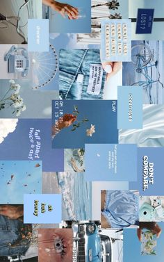 BLUE AESTHETIC MOOD BOARD! - CAN BE USED FOR DESKTOP WALLPAPER (click, save & flip) ☆ Pink Wallpaper Laptop, Wallpaper Notebook, Cute Desktop Wallpaper, Aesthetic Desktop Wallpaper, Macbook Wallpaper, Mood Wallpaper, Images Wallpaper, Blue Wallpapers, Pretty Wallpapers