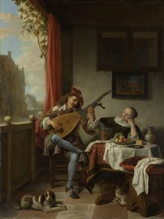 Hendrick Martensz. Sorgh (Dutch, ca.1611 - 1670) - The Lutenist, 1661. Rijksmuseum,   Amsterdam