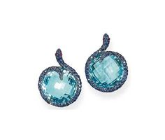 A PAIR OF GEM-SET 'SERPENT' EARRINGS, BY MICHELE DELLA VALLE