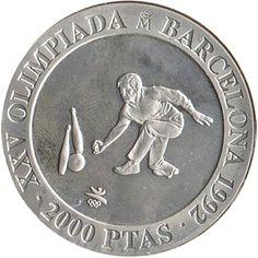 2000 Pesetas 1991 Juegos Olimpicos Barcelona'92 Bolos.