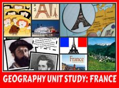 Free Unit Study France. Multi media, crafts, activities and projects.