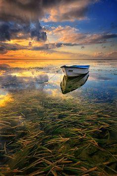 ~~The End of Journey ~ sunrise in Karang Beach, Sanur, Bali, Indonesia by Hendri Suhandi~~