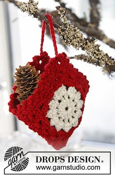 Ravelry: 0-864 Christmas bag in Lima pattern by DROPS design