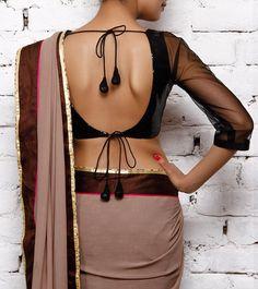 deep back blouse